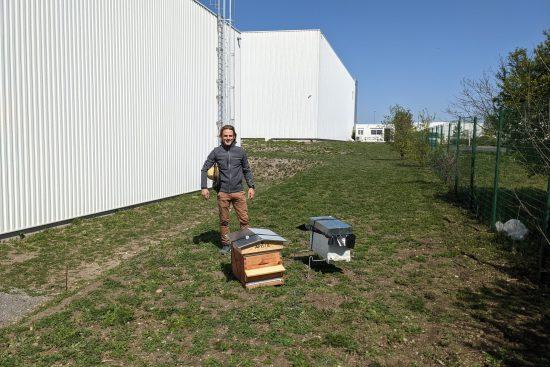 Léo installe la ruche d'Euromulticourses